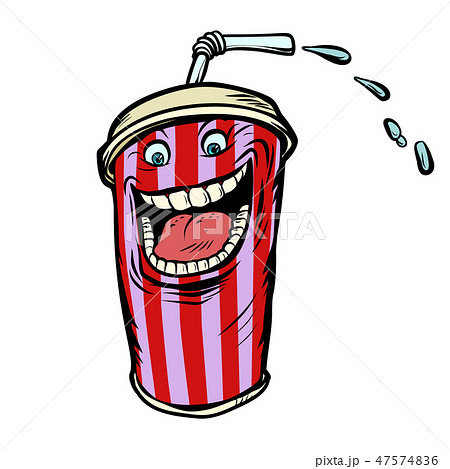 Cola drink character isolate on white background 47574836
