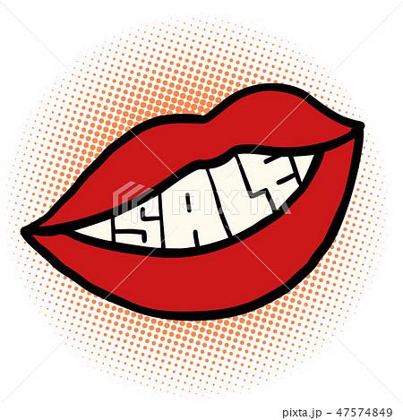pop art mouth sale 47574849