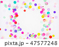 Colorful frame or border made of bright confetti 47577248