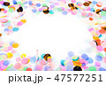 Close-up of colorful confetti as a border frame 47577251