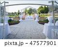 Photo of the beautiful white wedding terrace 47577901