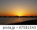東京湾 風景 海の写真 47581543