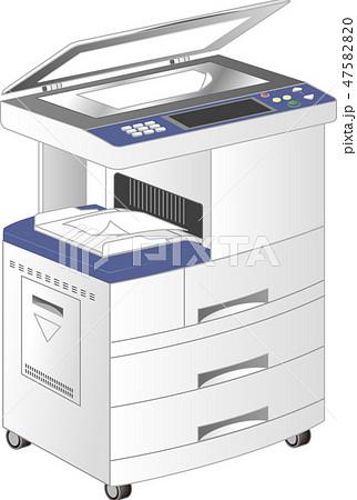 コピー機・FAX複合プリンタ(4型・copier)ベクター 47582820