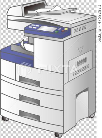 コピー機・FAX複合プリンタ(3型・copier)ベクター 47582821