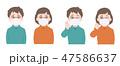 子供 風邪 インフルエンザのイラスト 47586637