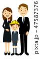 入学 ベクター 家族のイラスト 47587376