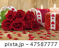 Valentines Day concept with red roses 47587777