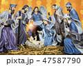 Christmas nativity scene 47587790