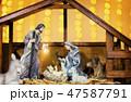 Christmas nativity scene  47587791