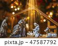 Christmas nativity scene 47587792