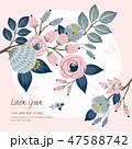 フローラル フラワー 花のイラスト 47588742