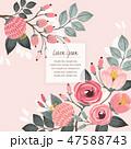 フローラル フラワー 花のイラスト 47588743