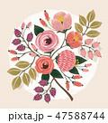 フローラル フラワー 花のイラスト 47588744