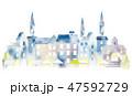 町並み 水彩 町のイラスト 47592729