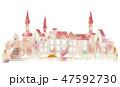 町並み 水彩 町のイラスト 47592730