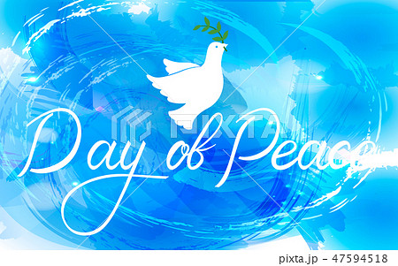 Peace dove with olive branch 47594518