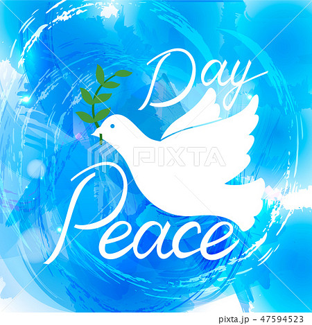 Peace dove with olive branch 47594523