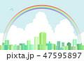 街並み 都市 ビル街のイラスト 47595897