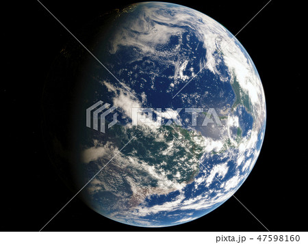 Near, low earth orbit blue planet. this image elements furnished by NASA 47598160