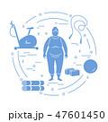 女の人 女性 肥満のイラスト 47601450