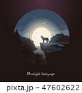 おおかみ オオカミ 狼のイラスト 47602622
