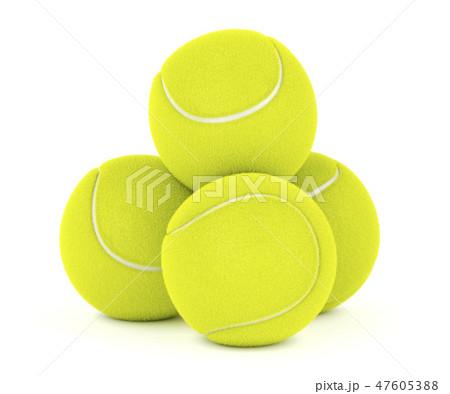 Tennis balls on white 47605388