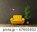 Interior with yellow armchair 3d rendering 47605932