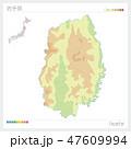 岩手県 岩手 地図のイラスト 47609994