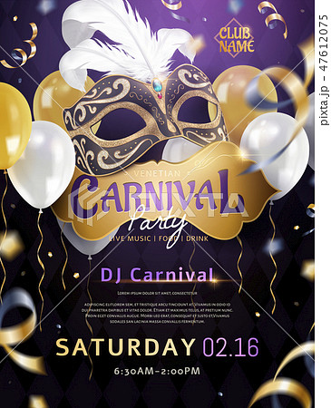 Venetian carnival poster 47612075