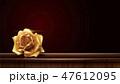 バラ 金 黄金のイラスト 47612095