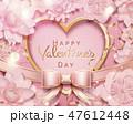 ハート型 ピンク ピンク色のイラスト 47612448