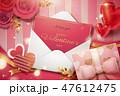 バラ ハート ハートマークのイラスト 47612475