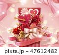 バレンタインデー ギフトボックス 花のイラスト 47612482