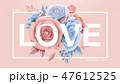 バラ 花 フローラルのイラスト 47612525