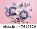 花柄 花 蝶のイラスト 47612529