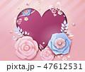お花 フラワー 花のイラスト 47612531