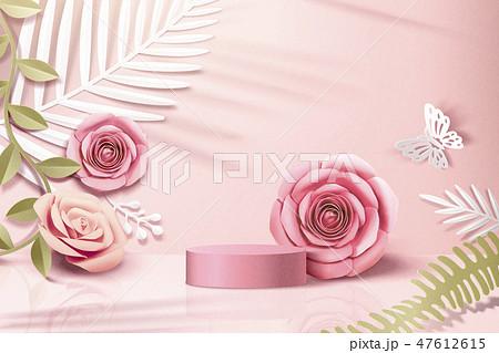 Romantic paper flowers scene 47612615