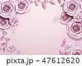 桃色 背景 お花のイラスト 47612620