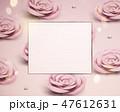 淡ピンク ベビーピンク 花のイラスト 47612631