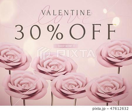 Valentine sale romantic template 47612632