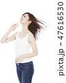 ビューティー ヘアケア 女性の写真 47616530