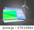 3d illustration of solar  with laptop 47619884