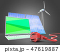 3d illustration of laptop with  wind energy  47619887