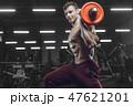 ボディービルダー フィットネス スポーツジムの写真 47621201
