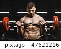 バーベル スポーツジム 男の写真 47621216