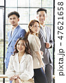 男女 ビジネスマン ビジネスウーマンの写真 47621658