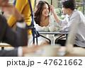 人物 若い女性 カフェの写真 47621662