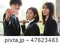 男の子 男女 高校生の写真 47623483