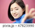 ポートレート 女性 アジア人の写真 47623990
