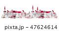 町並み 水彩 町のイラスト 47624614